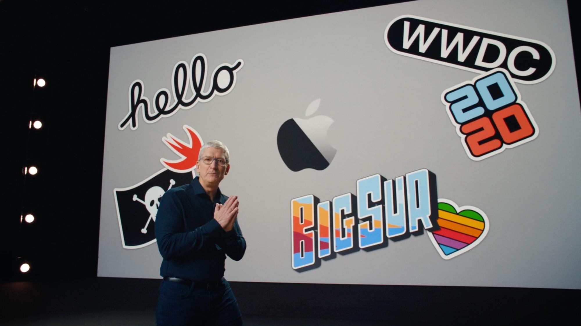 Tim Cook tijdens WWDC 2020