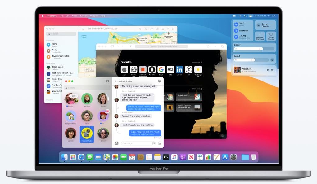 macOS Big Sur apps geopend MacBook Pro
