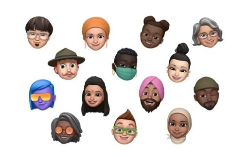 Memoji gezichten iOS 14