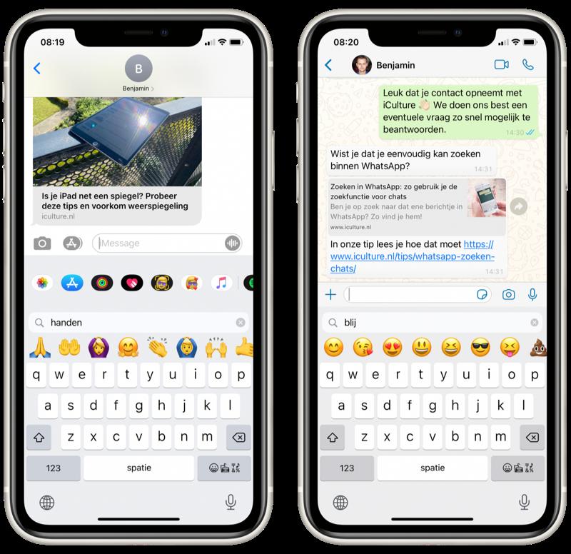 iOS 14 emoji zoeken.