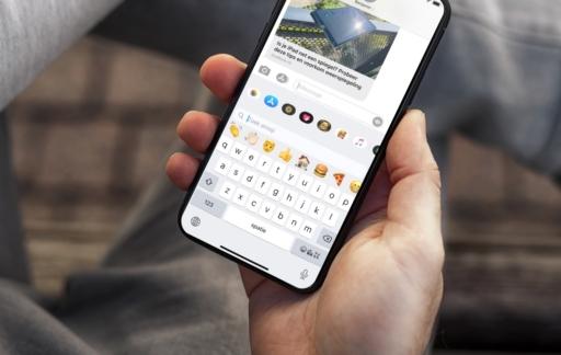 Emoji zoeken via het toetsenbord.