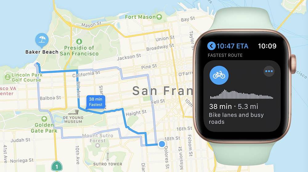 Fietsroutes op Apple Watch