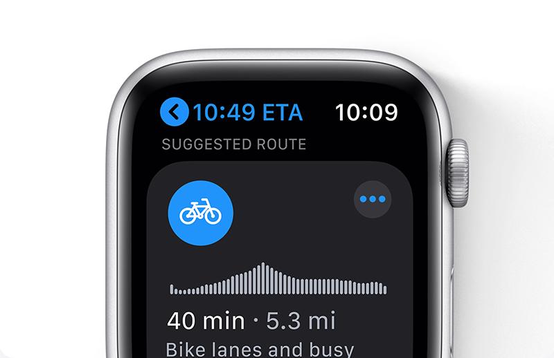 Apple Watch fietsroutes plannen