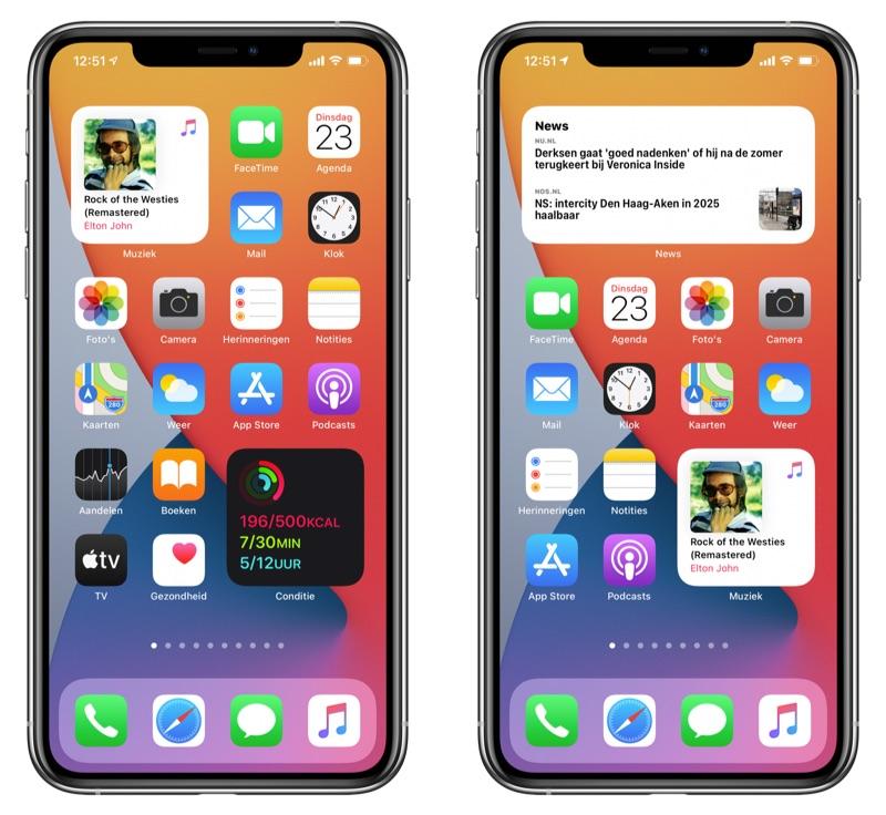 Widgets op thuisscherm iOS 14