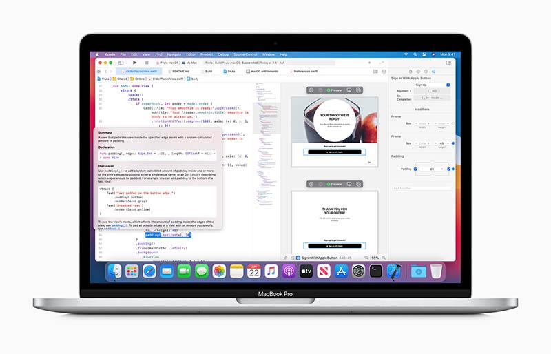 Xcode op Apple MacBook
