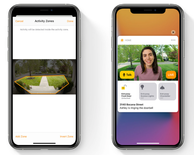 HomeKit Activity Zones en gezichtsherkenning in iOS 14.