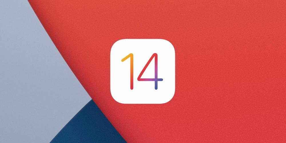 iOS 14 logo met achtergrond.