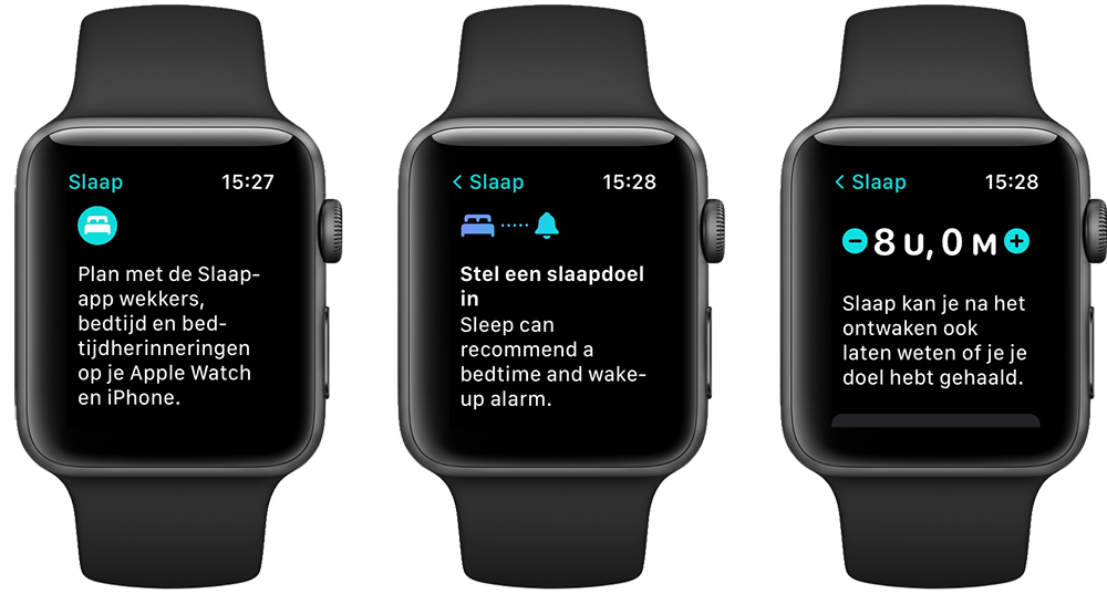 Slaap-app op de Apple Watch