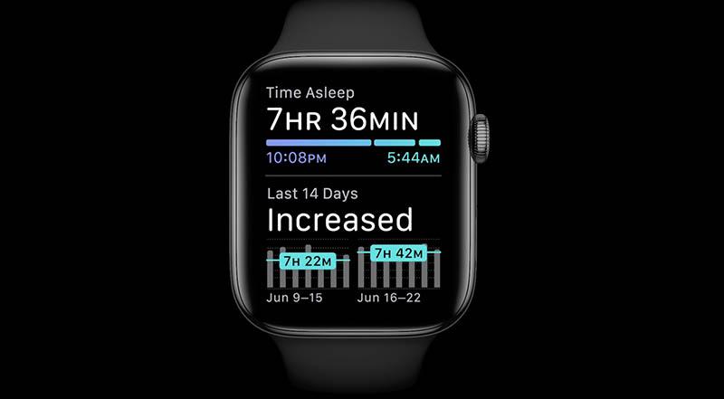 Slaapstatistieken op Apple Watch