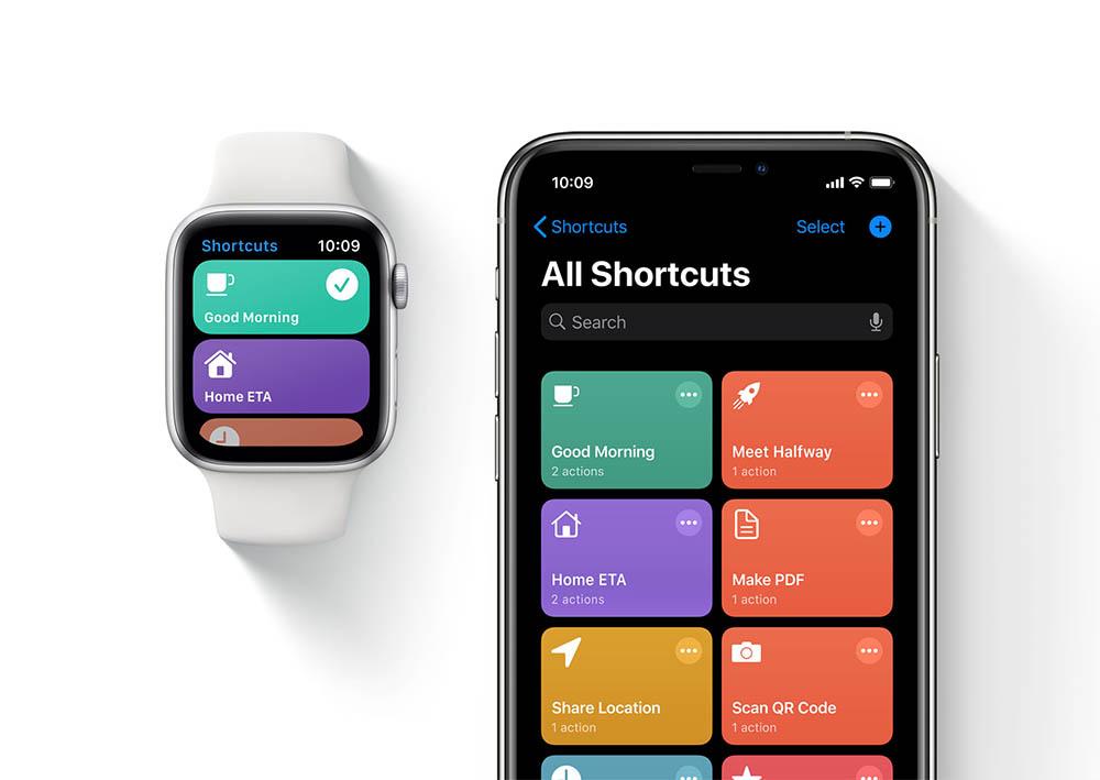 Opdrachten-app op Apple Watch