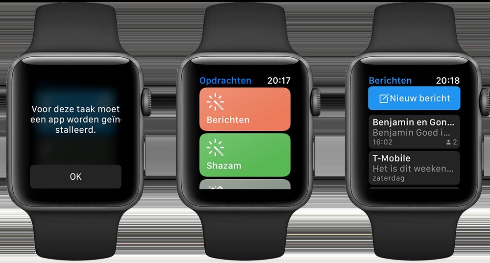 Siri Shortcuts op de Apple Watch