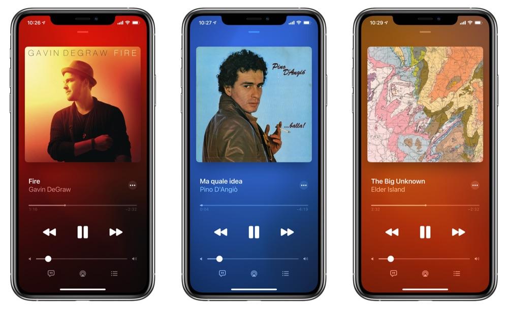 Vernieuwde muziekweergave Apple Music in iOS 14