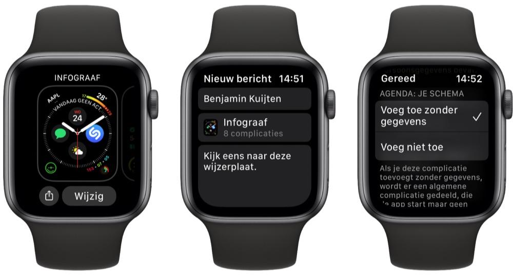 Wijzerplaat delen vanaf Apple Watch
