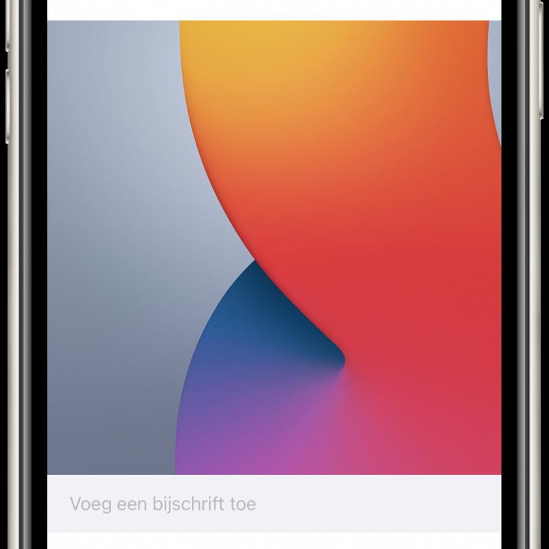 iOS 14: Bijschrift bij foto's plaatsen.