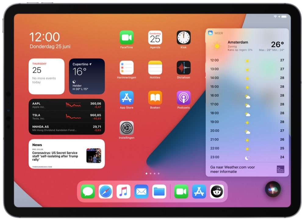 Siri op iPadOS 14