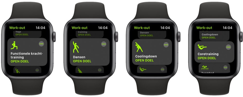 Work-outs in watchOS 7