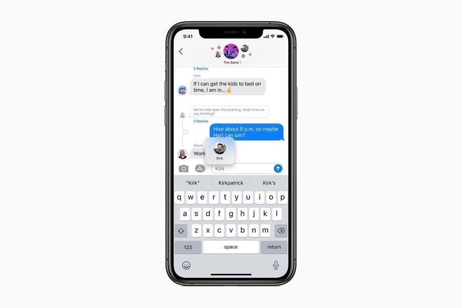 iOS 14 groepsgesprekken