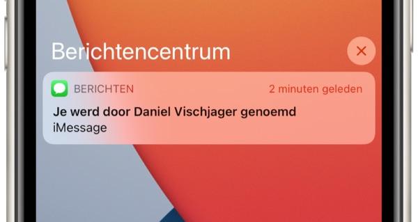 Vermelding in iMessage iOS 14