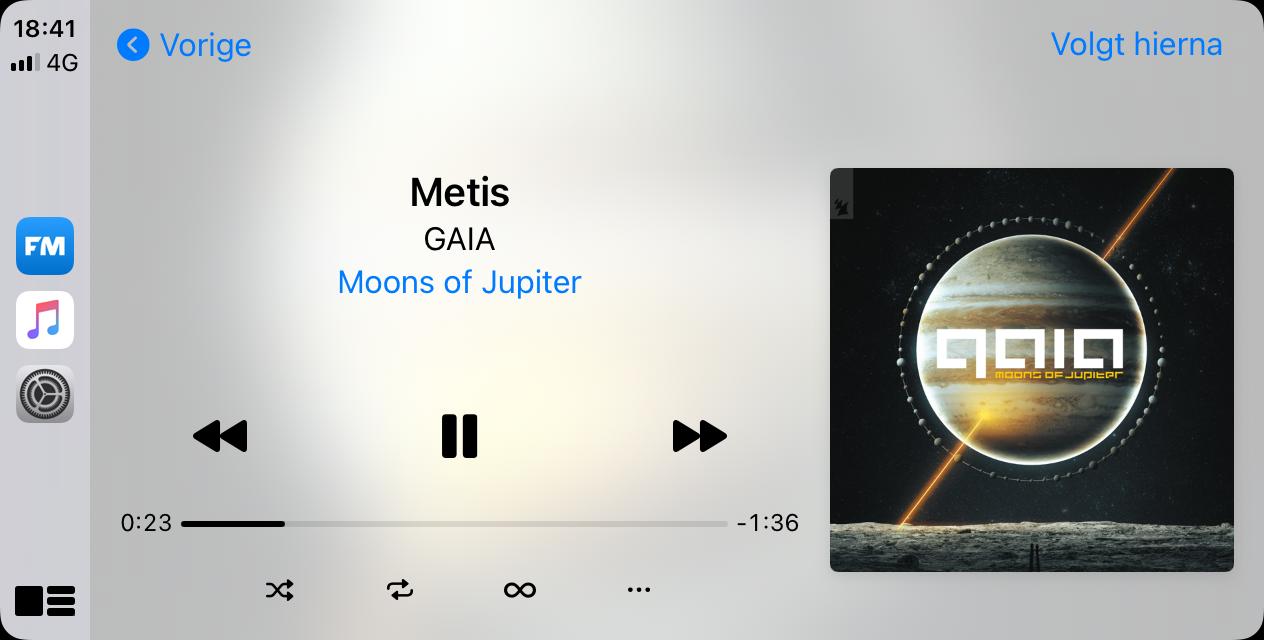 CarPlay Muziek-app in iOS 14.