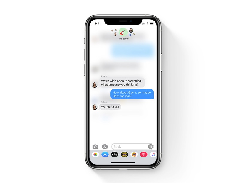 Direct reageren in iMessage iOS 14