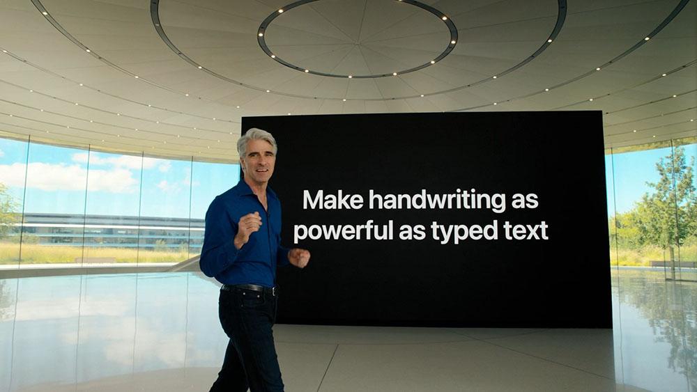 Handschriftherkenning op iPad met Craig Federighi