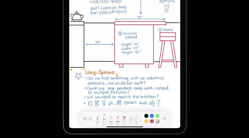 Handgeschreven tekst iPad
