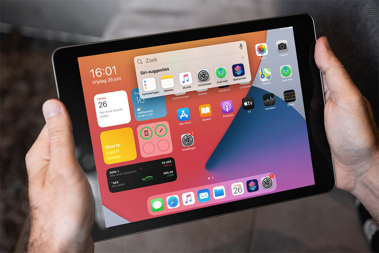 iPadOS 14 compacte zoekfunctie