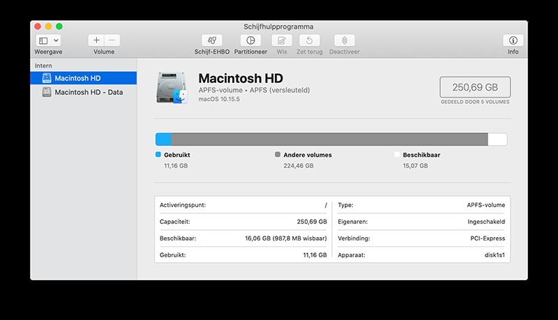 Harddisk Macintosh HD
