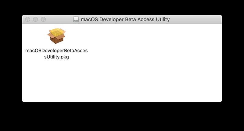 Beta Utility voor macOS