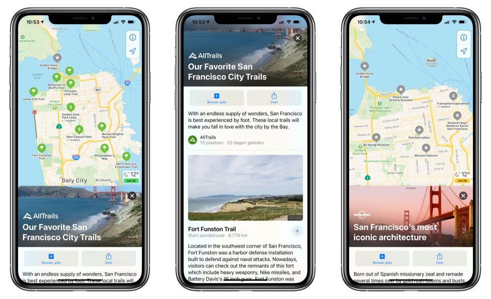 Gidsen Apple Kaarten iOS 14