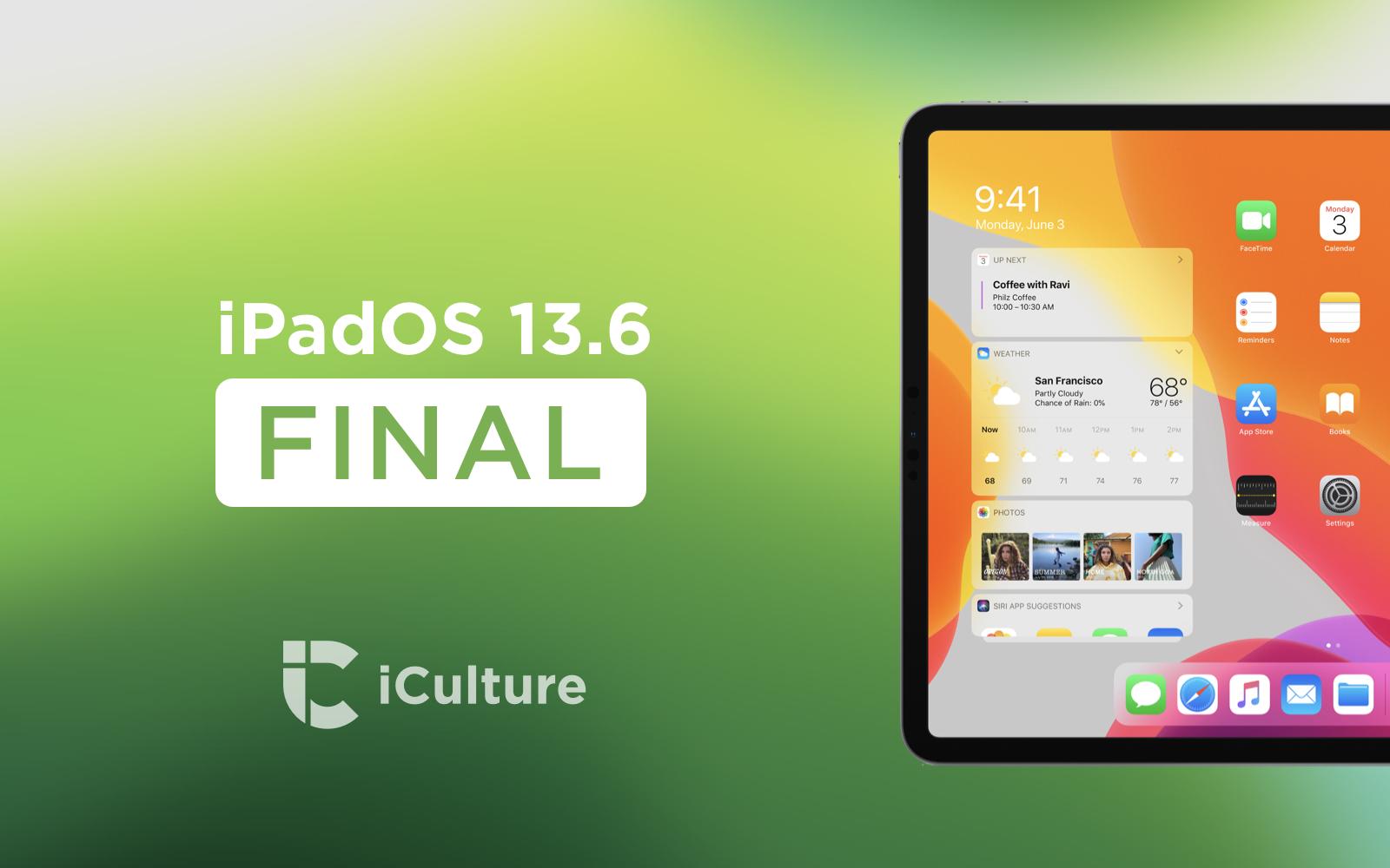 iPadOS 13.6 Final.