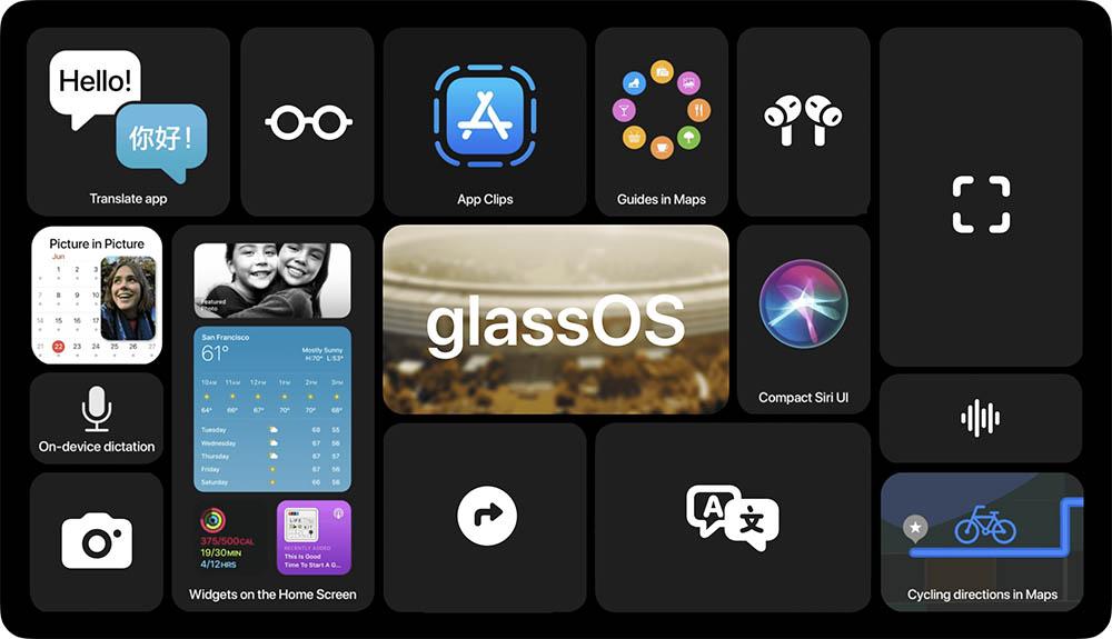 glassOS widgets