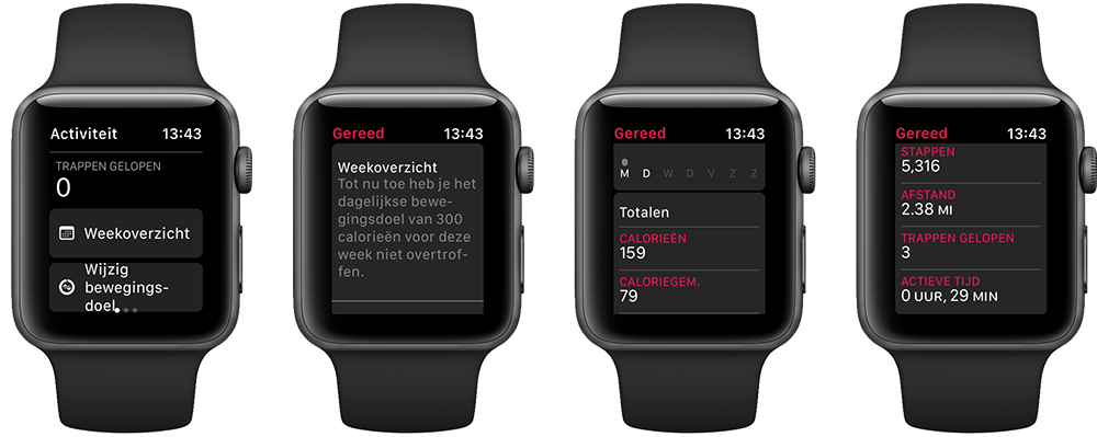 Weekoverzicht Apple Watch