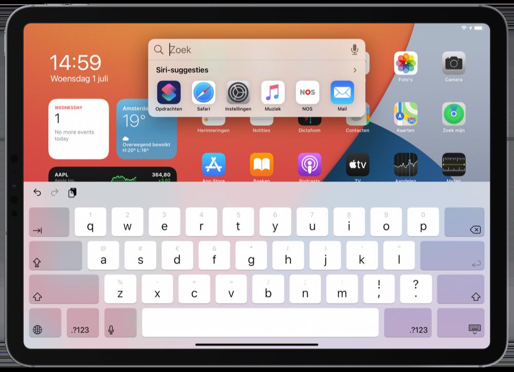 Spotlight in iPadOS 14
