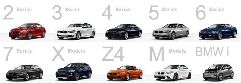 BMW-modellen 2018