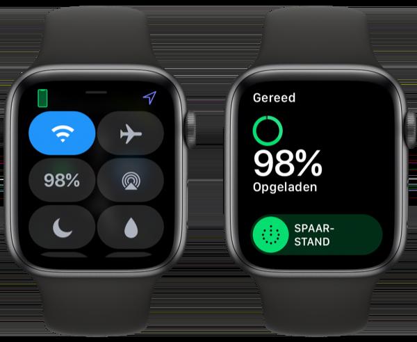 Bedieningspaneel batterij Apple Watch