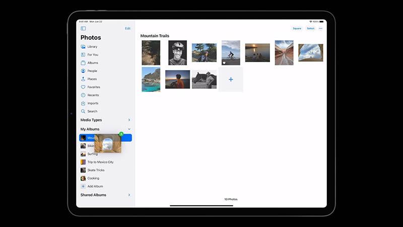Foto's op iPadOS