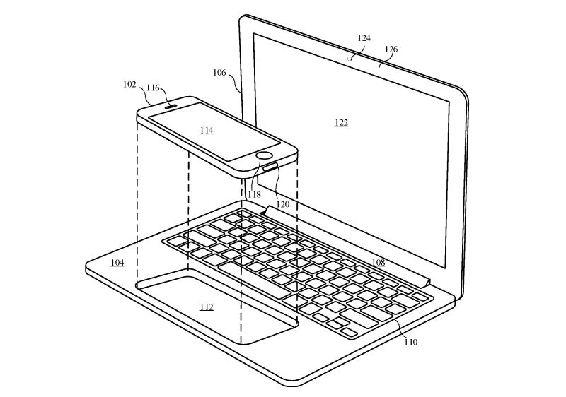 Apple patent: iPhone in MacBook stoppen
