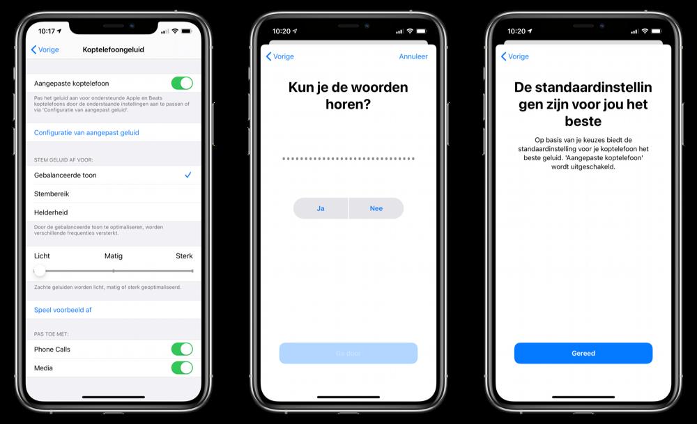 Aangepaste koptelefoon slechthorenden iOS 14