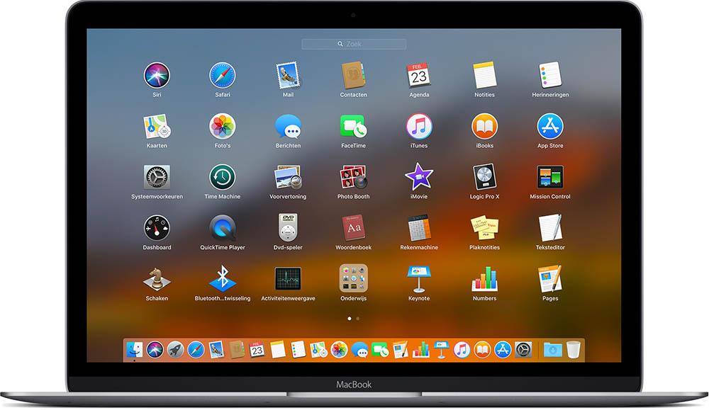 Launchpad op de Mac