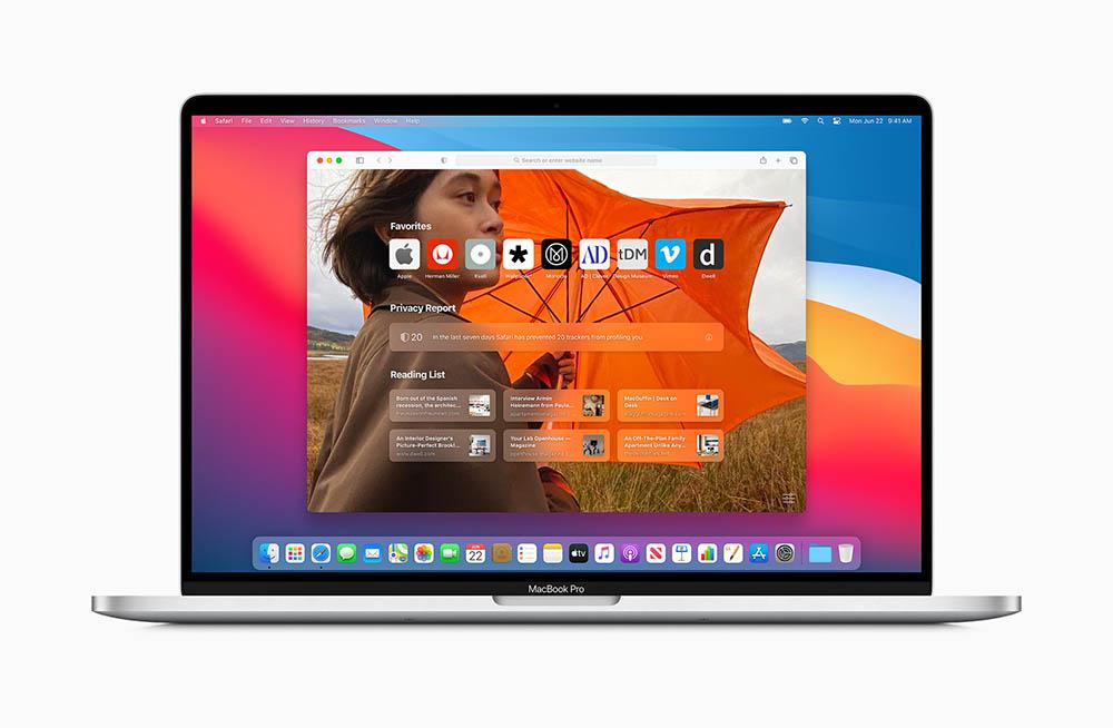 macOS Safari achtergrond