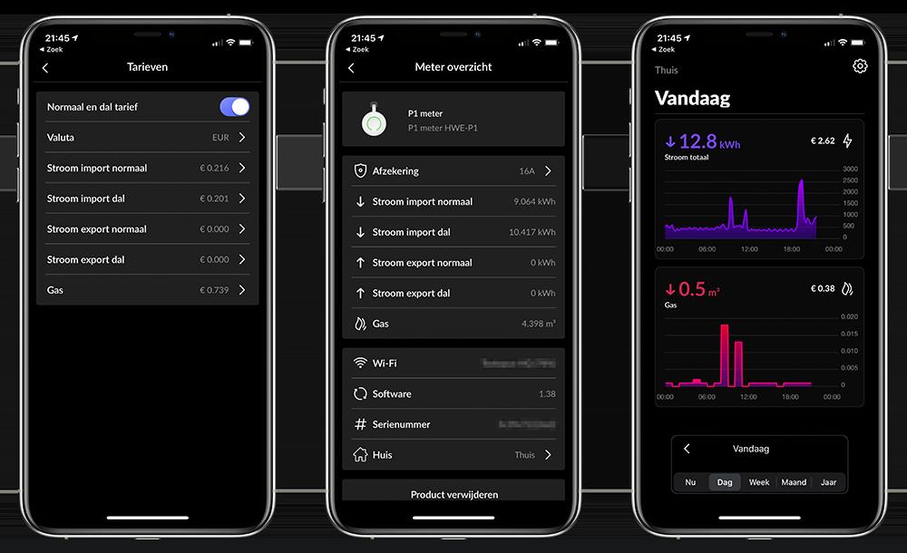 Energy-app verbruik