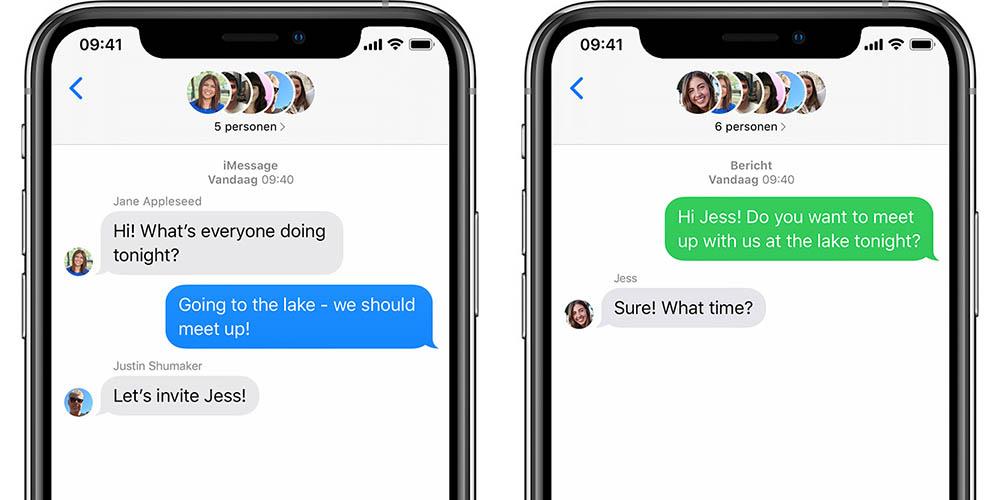 Groepsbericht SMS en MMS