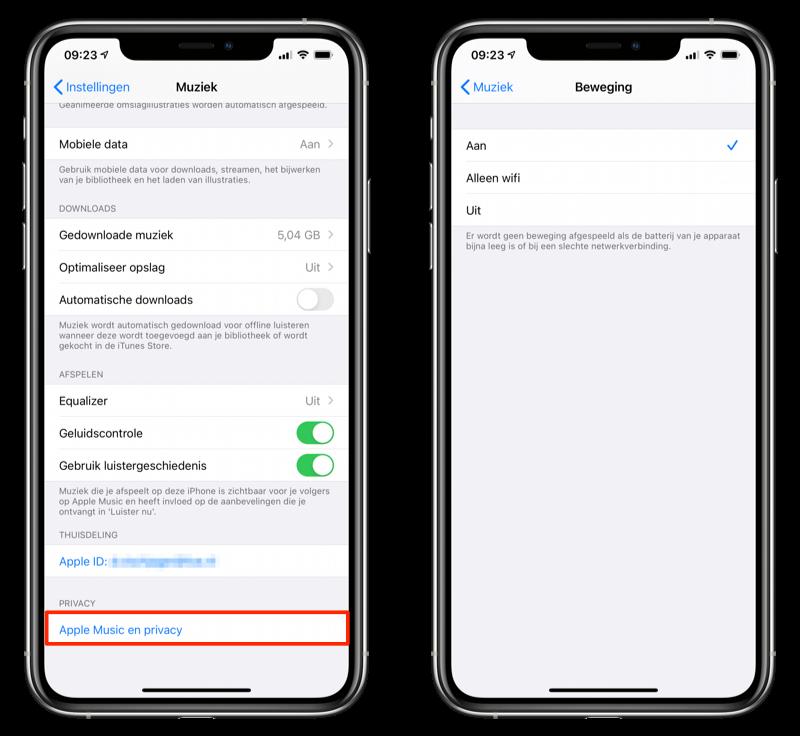 Apple Music instellingen iOS 14 beta 2