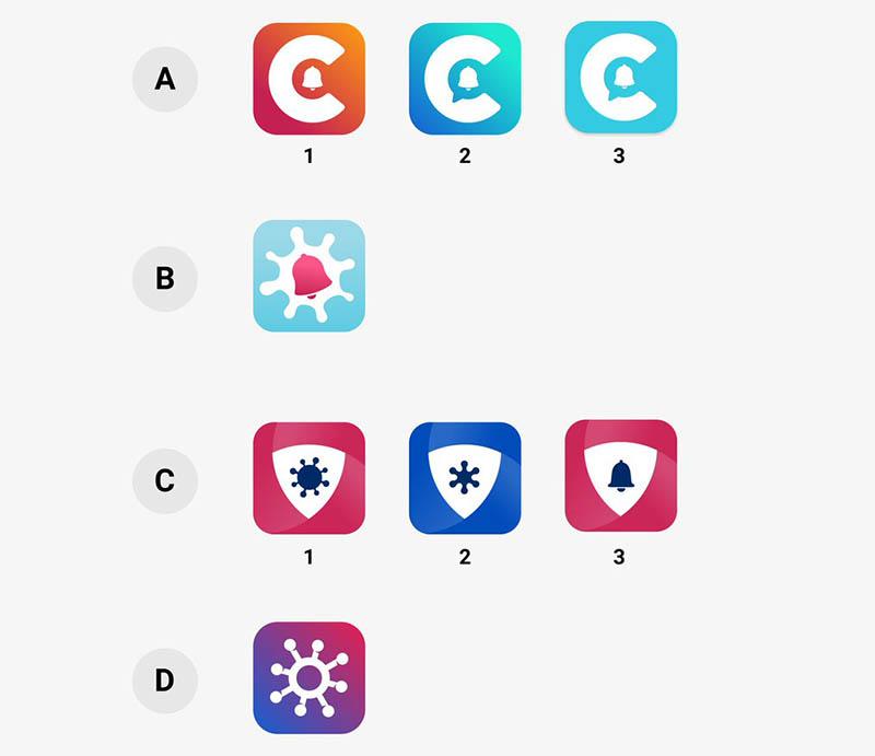 Corona-app icoon