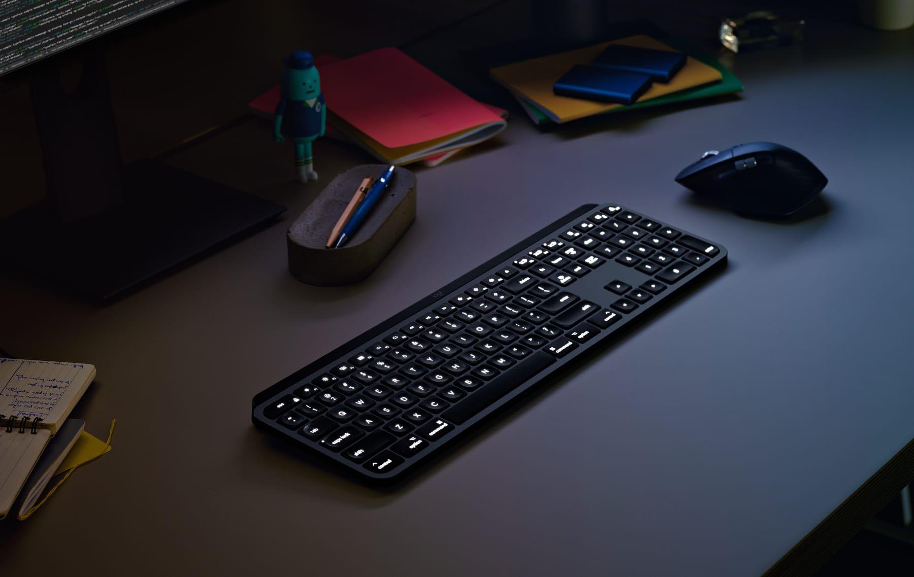 MX Keys met achtergrondverlichting