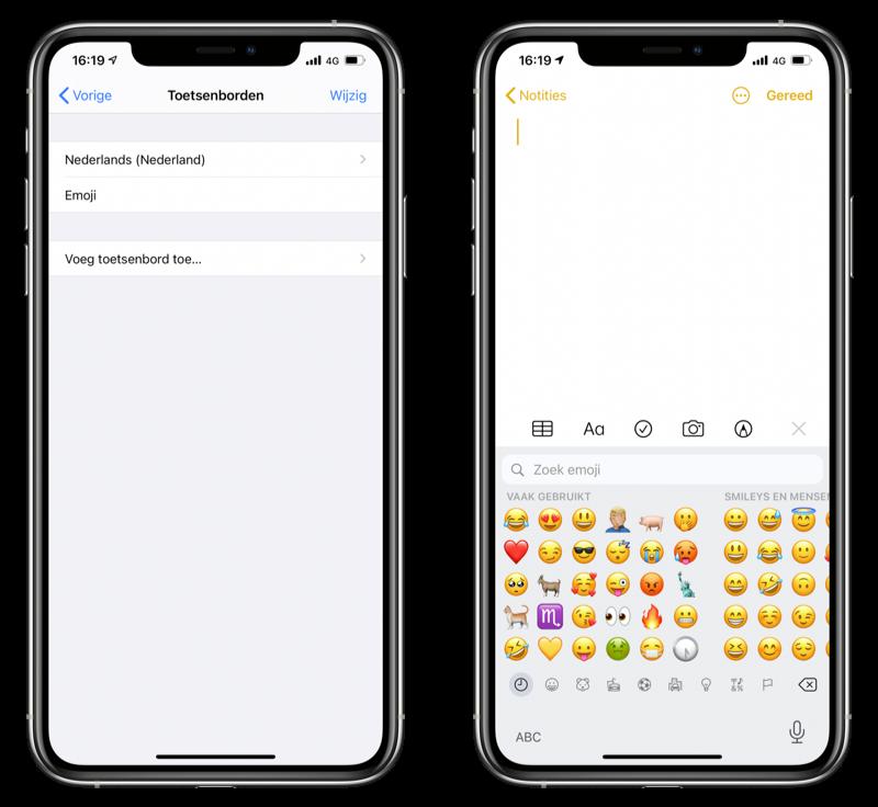 Emoji instellen
