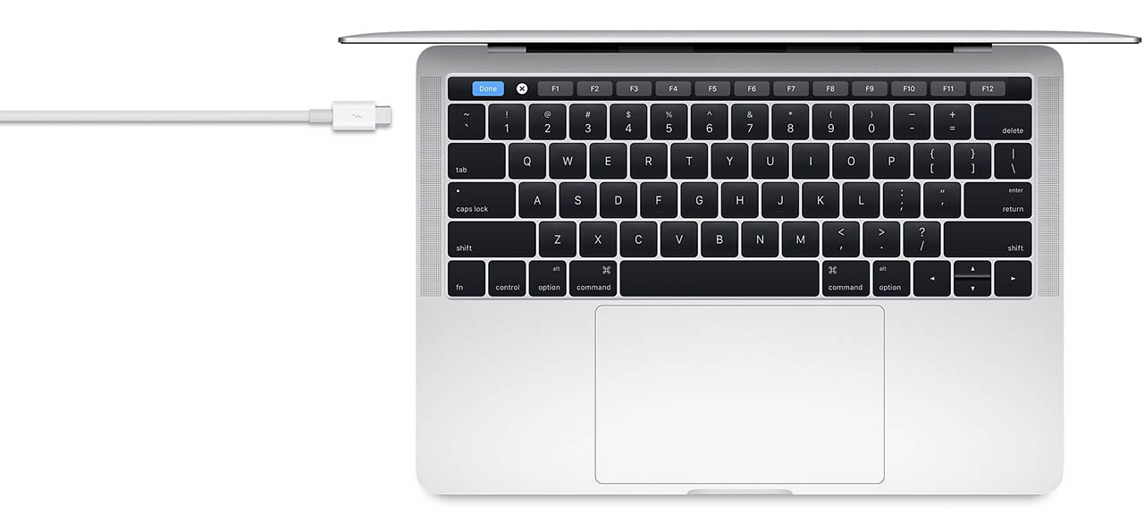 Apple MacBook met Thunderbolt poort