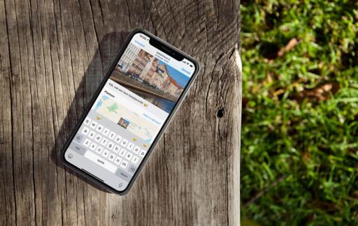 iPhone foto-bijschriften