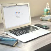 MacBook met Chrome-browser